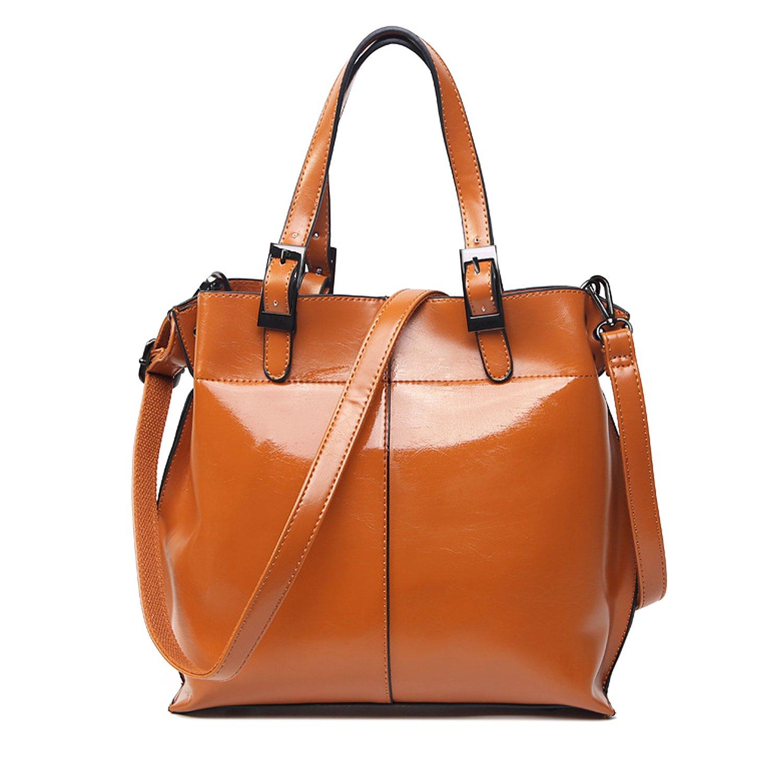 Women Leather Shoulder Bag,ZZSY Fashion Top Handle Tote Satchel Handbags Crossbody Bag for Ladies