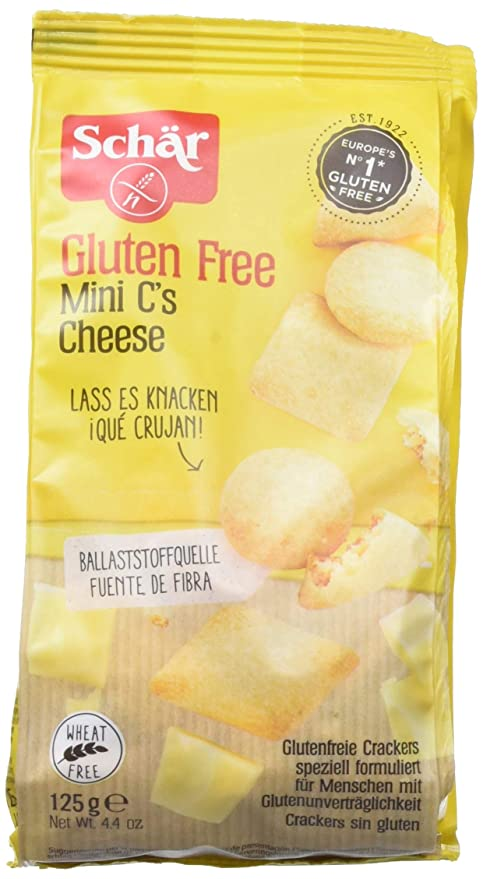 Dr. Schar Cheese Bites Galletitas Saladas - 125 gr