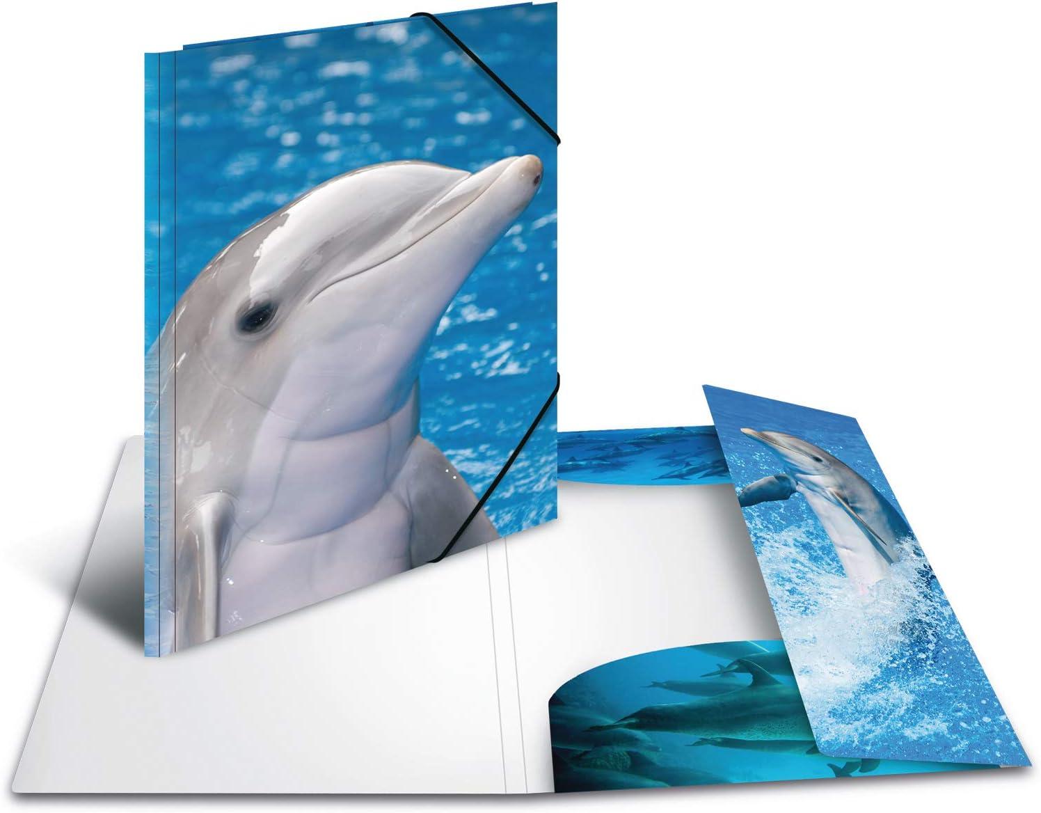 HERMA 7146 Polipropilene PP Blu Grigio cartella