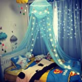 amz Kids Celestial Starry Night Hideaway Girls Boys Bed Canopy,Turquoise