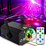 Party Lights + Disco Ball GOOLIGHT Dj Disco Lights LED Stage Light Projector Strobe Lights Sound Activated with Remote Contro