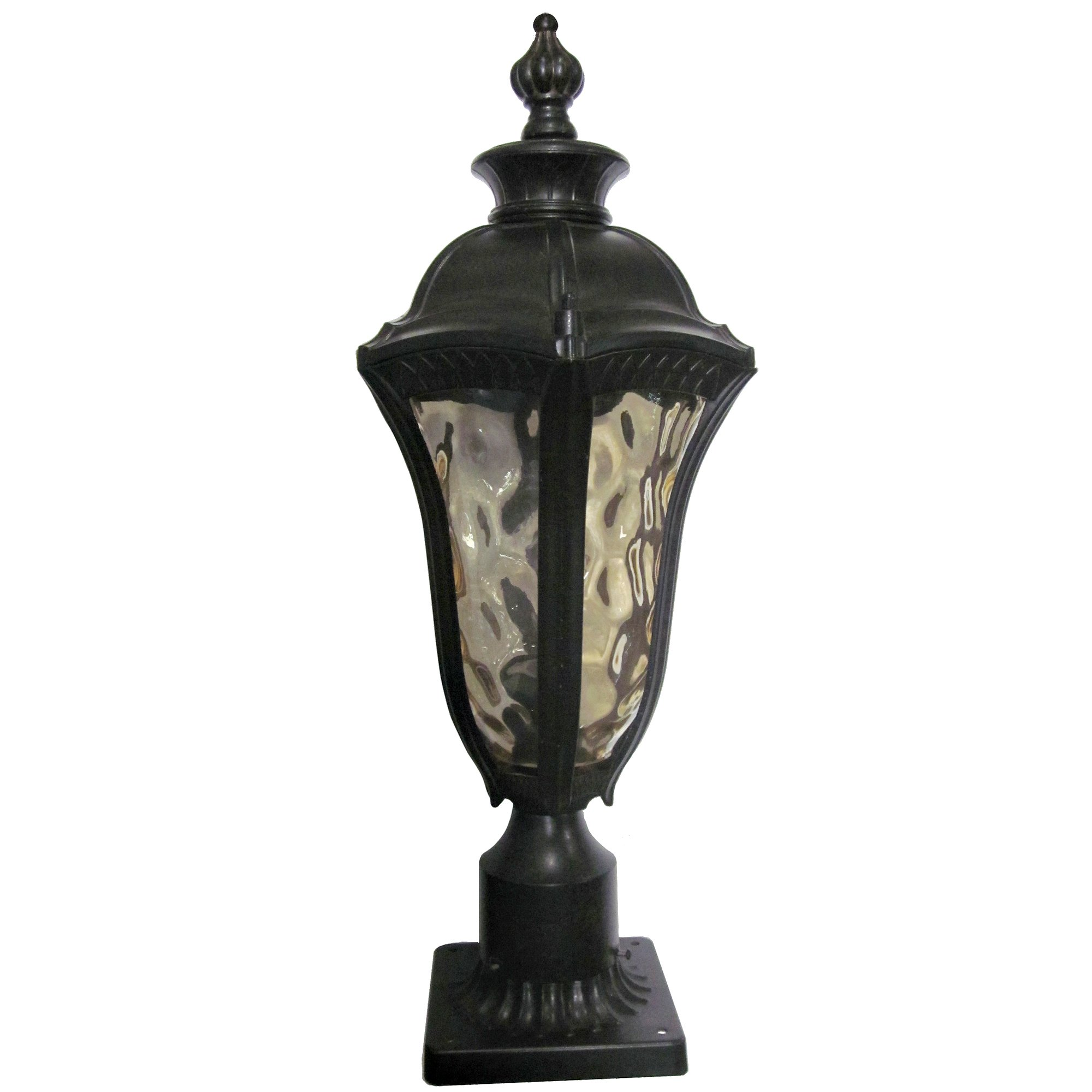 Yosemite Home Decor 326SPIWB Straford 1-Light Outdoor Post Light with Water Glass Shade, Small by Yosemite Home Decor