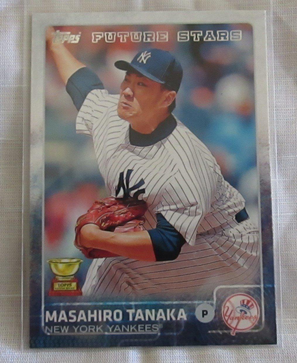 79bf513b820 MASAHIRO TANAKA 2015 TOPPS BASEBALL CARD  142 - FUTURE STAR (TOPPS ALL STAR  ROOKIE - NEW YORK YANKEES) at Amazon s Sports Collectibles Store