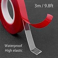 3M hittebestendige dubbelzijdige acryltape, 1 stuk weerbestendig, hittebestendig, dun, zeer sterk, 3M industriële tape…
