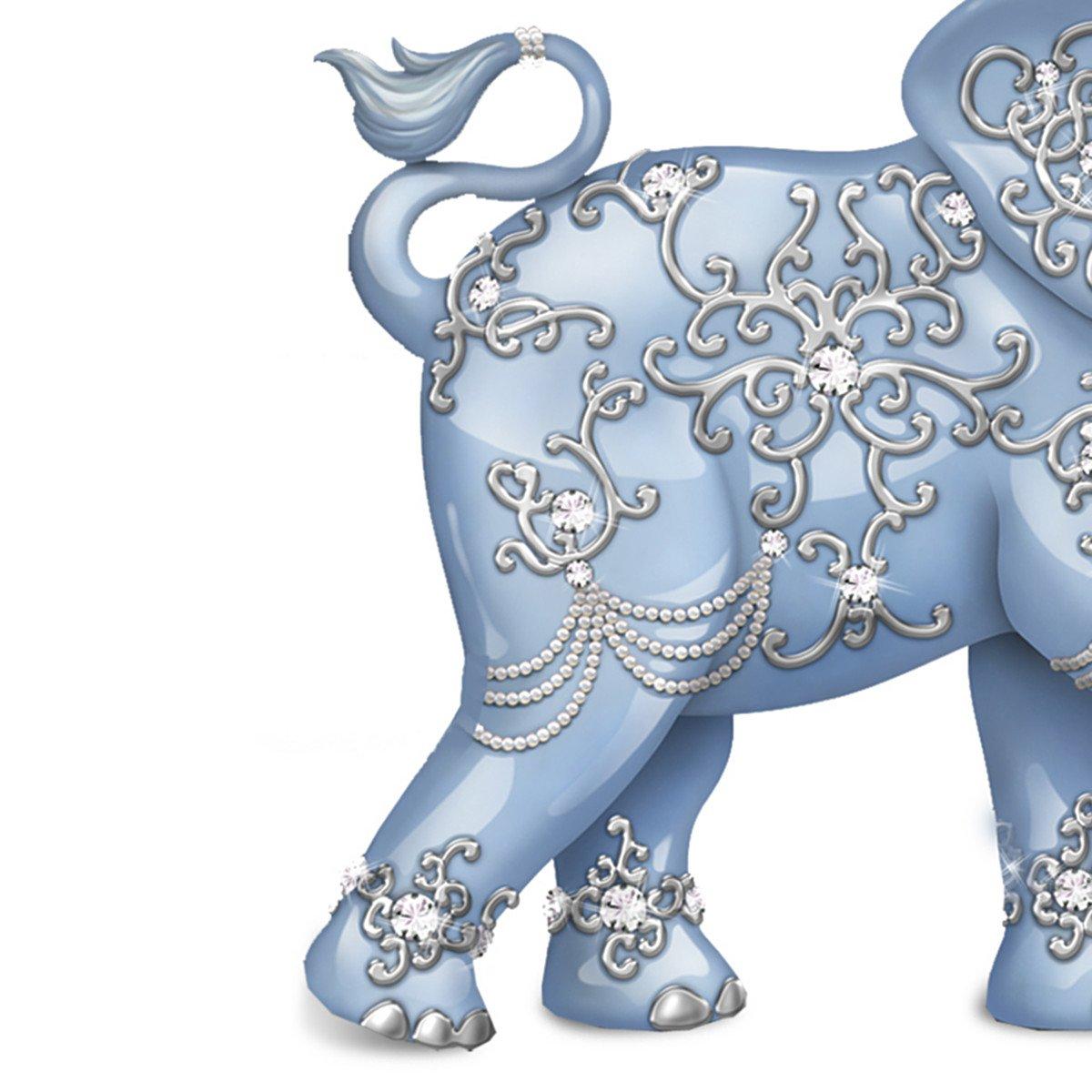 Amazon.com: Thomas Kinkade Dazzling Delight: Collectible Elephant Figurine  With Swarovski Crystal By The Hamilton Collection: Home U0026 Kitchen