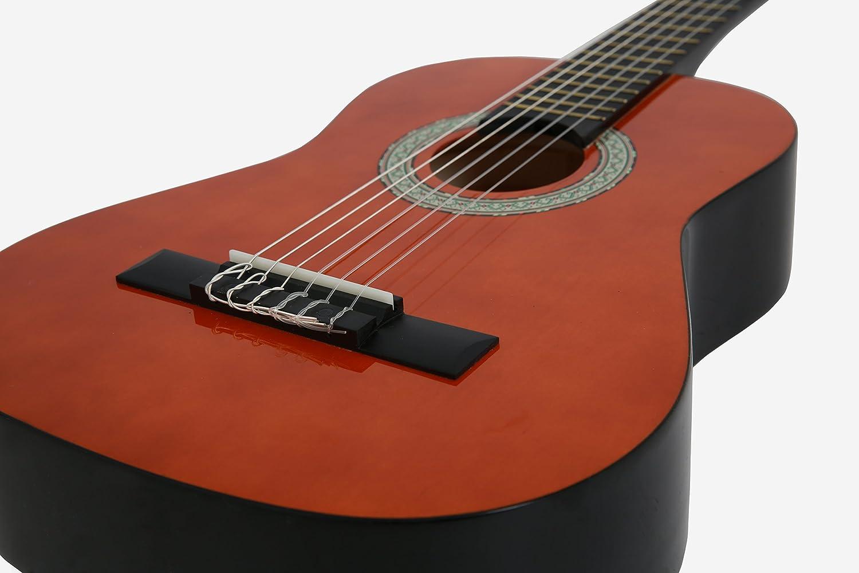 NAVARRA NV11PK Guitarra Clásica STARTER PACK 4/4 honey con bordes ...