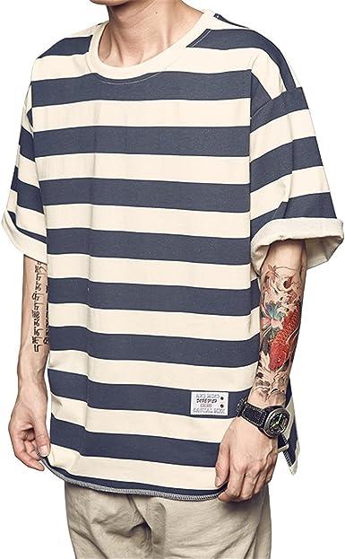 Peng La Primavera Y El Verano De Hombres Camiseta De Rayas ...