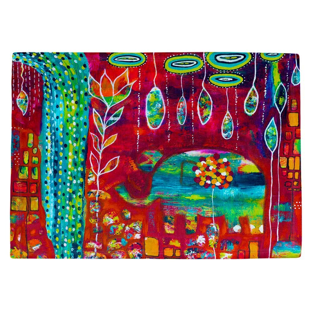 DIANOCHEキッチンPlaceマットby Michele Fauss – 象Eden Set of 4 Placemats PM-MicheleFaussElephantsEden2 Set of 4 Placemats  B01EXSHPX4
