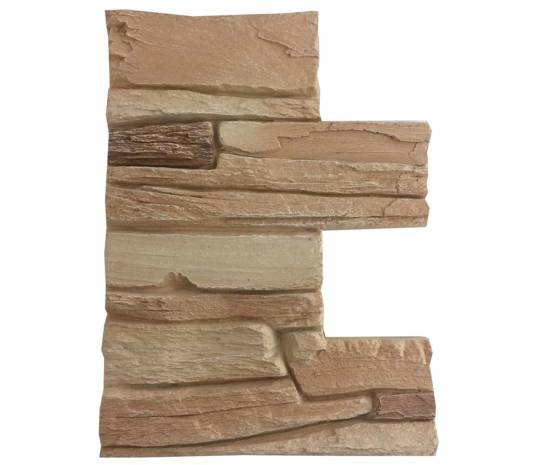 Revestimiento mural en piedra óptica para cocina - terraza - dormitorio - salón | Paneles para paredes mediterráneas de espuma dura | 30cm x 40cm ...