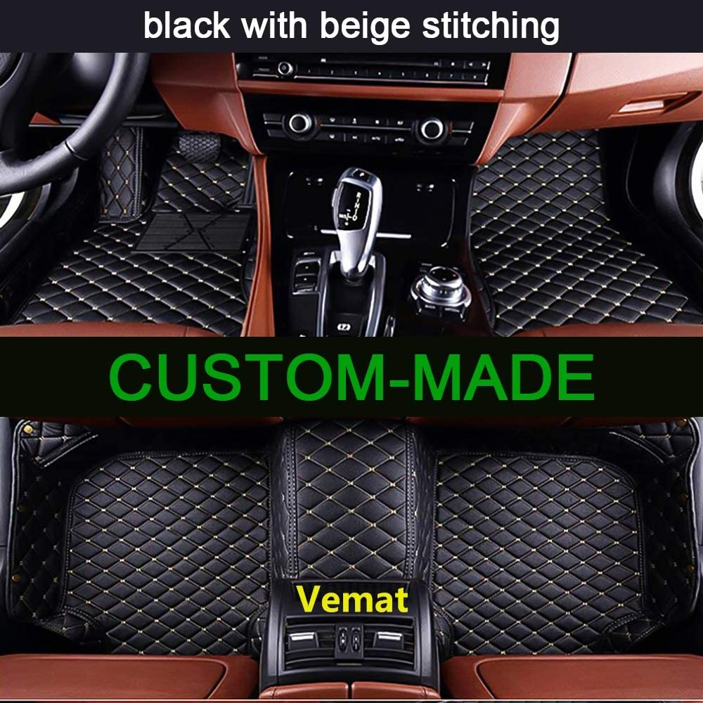 AUDI A3 2016 PLUS FULLY TAILORED CAR MATS BLACK CARPET WITH BLACK EDGING