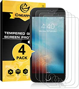 [4 Pack] for iPhone 8 / iPhone 7 Screen Protector, Nearpow® [Tempered Glass] Screen Protector with [9H Hardness] [Crystal Clear] [Easy Bubble-Free Installation] [Scratch Resist]