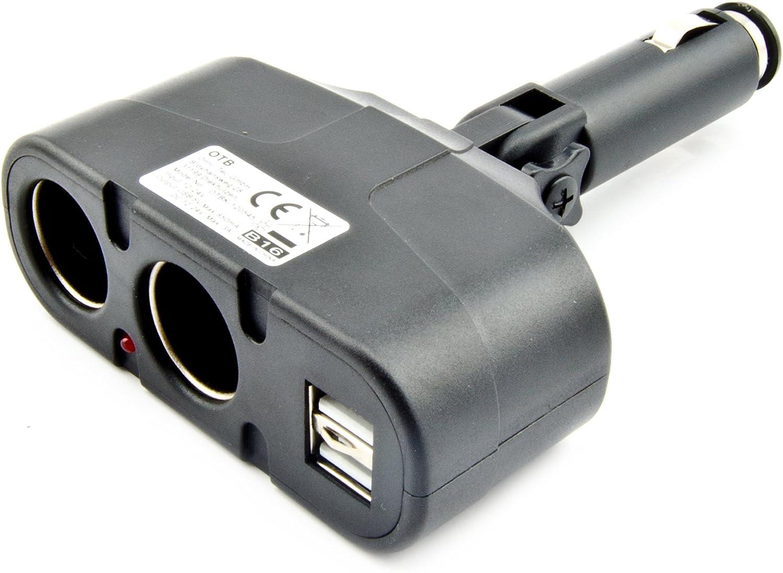 Otb 2 Fach Usb Adapter Kfz Auto Zigarettenanzünder Elektronik