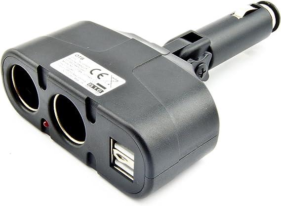 Otb 2 Fach Usb Adapter Kfz Auto Zigarettenanzünder Verteiler Buchse Steckdose Handy