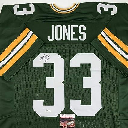 save off b241b 6a303 Aaron Jones (Green Bay Packers) Autographed Jersey - COA ...