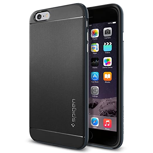 5 opinioni per Spigen SGP11063 Neo Hybrid Custodia per iPhone 6 Plus, Ardesia