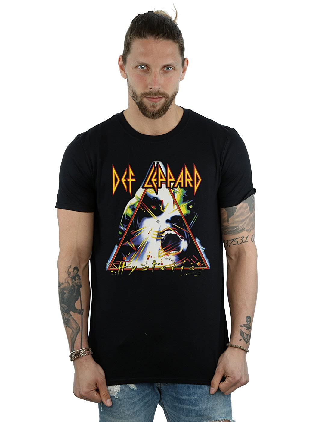 Def Leppard Men's Hysteria Cover T-Shirt Absolute Cult