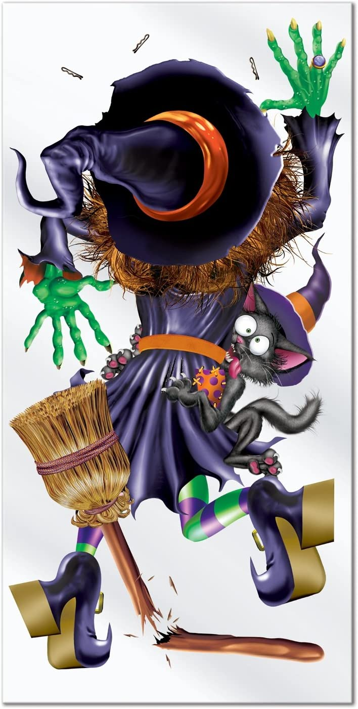 Beistle Crashing Witch Door Cover, 30-Inch by 5-Feet