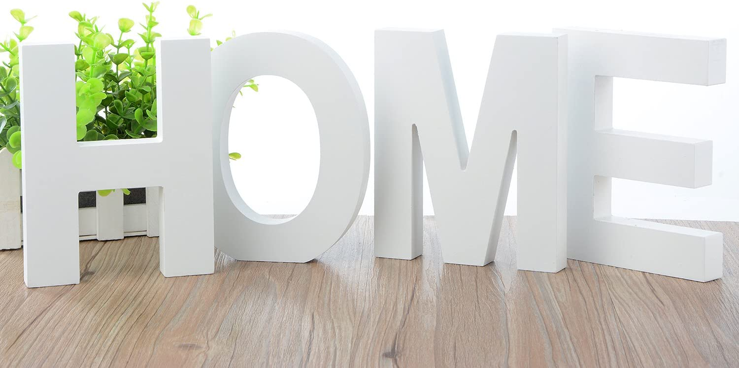 5.9x4.7x0.8 Large Wall Letters Marquee Alphabet Decorative Wood Letters Hanging Wall 26 Letters DIY Block Words Sign for Children Baby Name Girls Bedroom Wedding Birthday Party Home Decor,Letter F