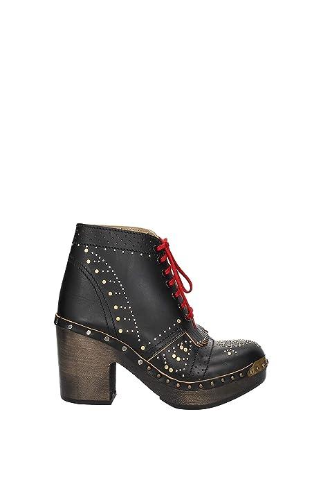 Piel Burberry Botines Zapatos Eu Y 1406939 Mujer Amazon es fEwRdqwp