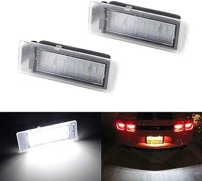 One pair White LED Bulb for 2010-2017 Chevy Chevrolet Camaro License Plate Light