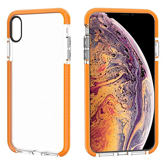wholesale dealer f5bb8 4a39d JAZ iPhone XS Max Case Clear Soft Silicone Rubber Bumper Cushion  Antio-Scratch Hybrid Crystal Transparent Case Cover for Apple iPhone XS Max  6.5 inch ...