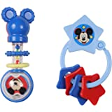 Disney Mickey Mouse Combo Pack Barbell Rattle & Keyring Teether, Mickey