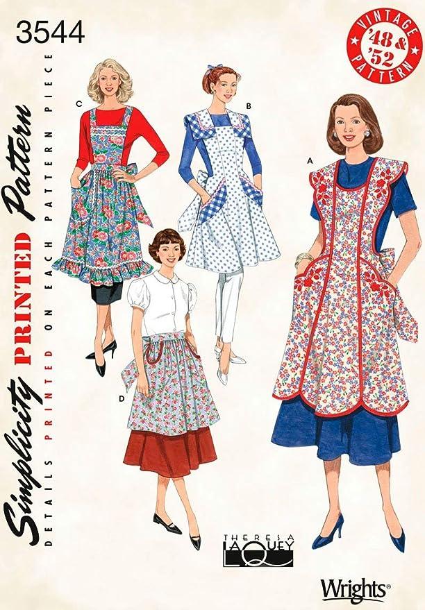 1950s Sewing Patterns | Dresses, Skirts, Tops, Mens Retro Aprons Pattern  AT vintagedancer.com