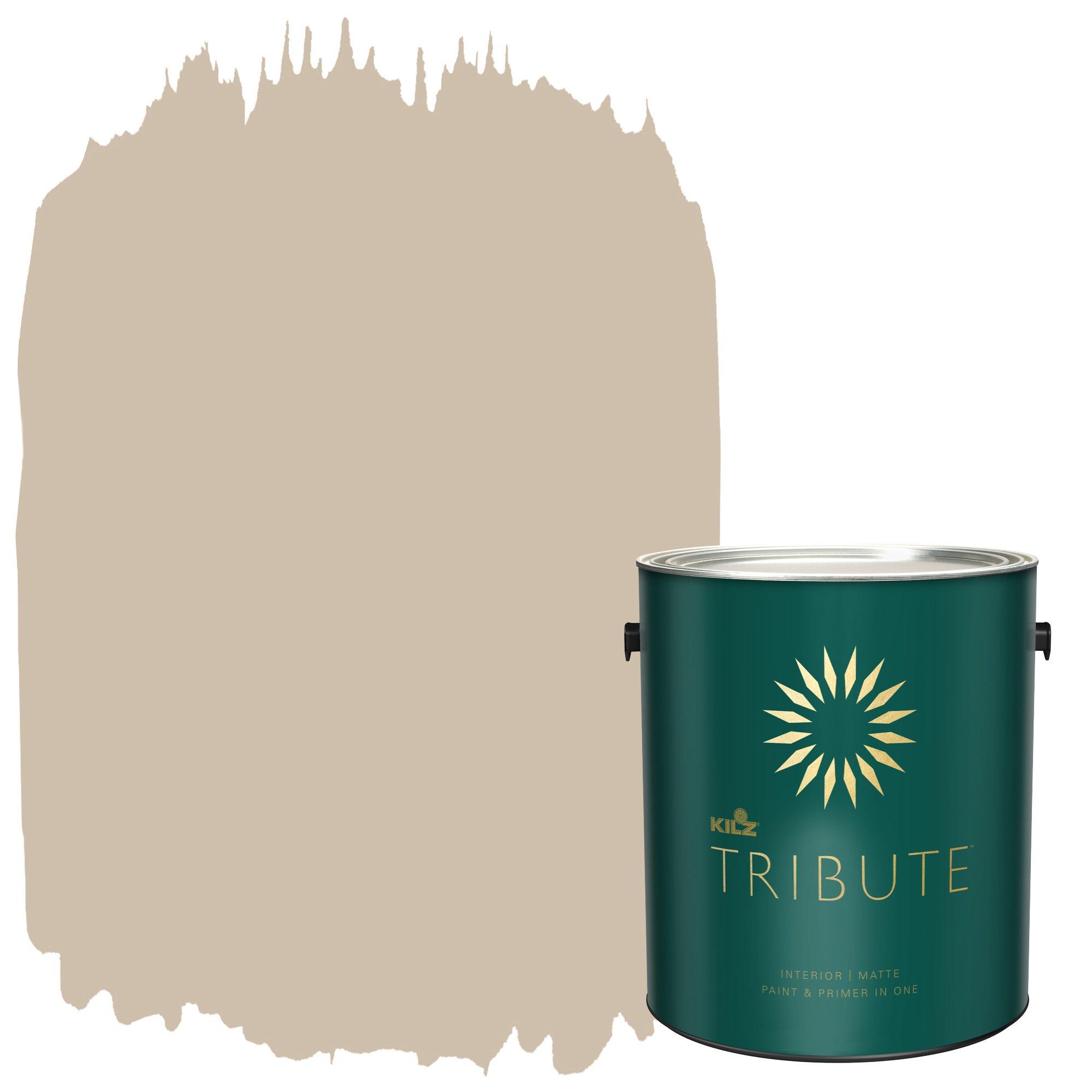 KILZ TRIBUTE Interior Matte Paint and Primer in One, 1 Gallon, Bronze Mist (TB-13) by KILZ