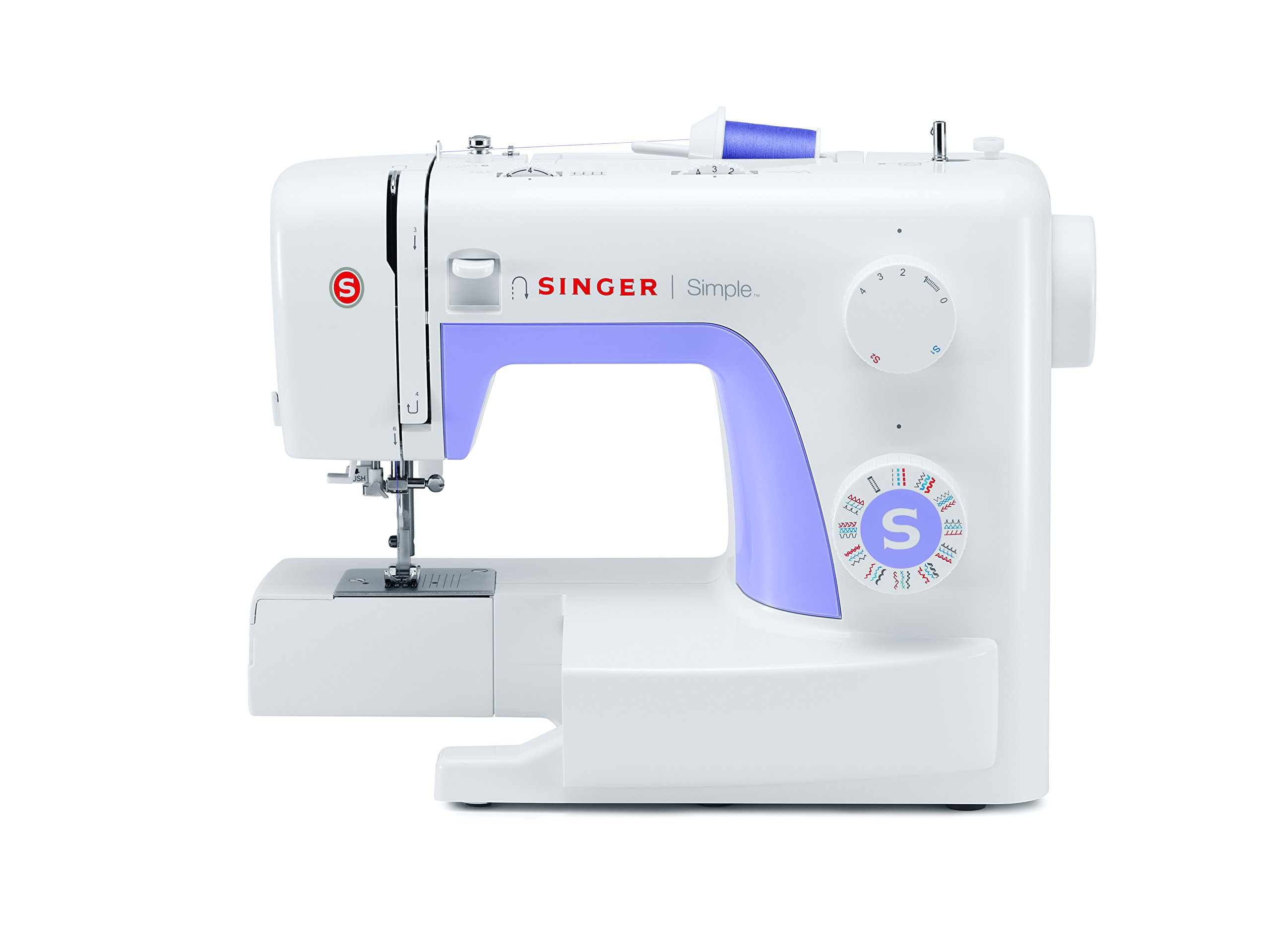 SINGER | Simple 3232 Portable Sewing Machine with 32 Built-In Stitches Including 19 Decorative Stitches, Automatic Needle Threader and Free Arm, Best Sewing Machine for Beginners by SINGER