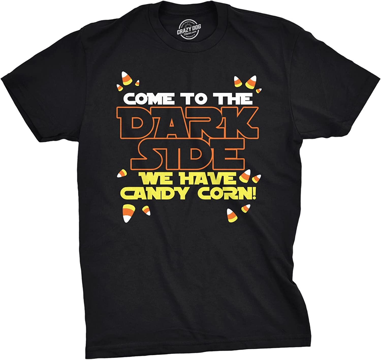 Mens Come to Dark Side We Have Candy Corn Halloween T Shirt
