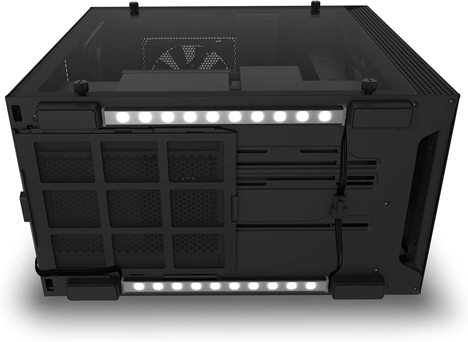 NZXT Underglow Accessory - AH-2UGKK-A1 - Two 300mm RGB LED Strips - 15 LEDs Per Strip - CAM-Powered - Immersive Desktop Lighting System
