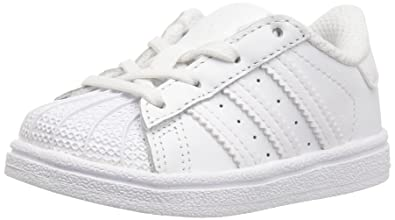 adidas Originals Kids' Superstar I Sneaker, White, 2 M US Infant