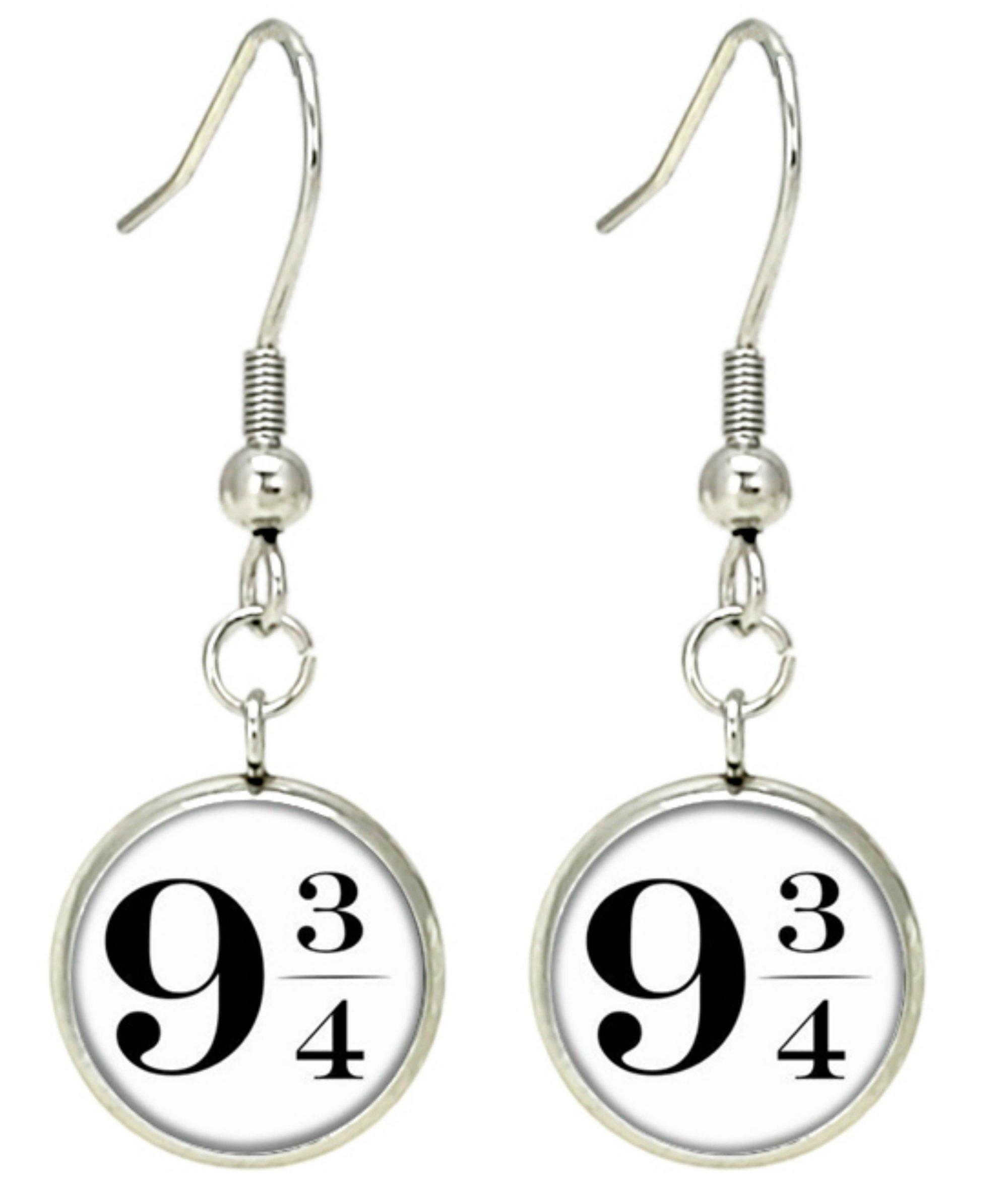 Harry Potter Premium Quality Silvertone Dangle Earrings