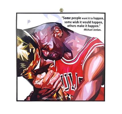 9c4d21622d379 Pop Art Famous Basketball Player Inspiration Quotes [ Michael Jordan ]  Framed Acrylic Canvas Poster Prints Artwork Modern Wall Decor, 10