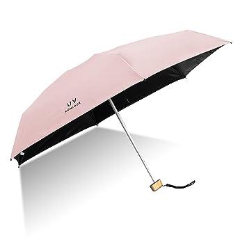 Amazon.com: Paraguas de viaje, ligero, pequeño, plegable ...