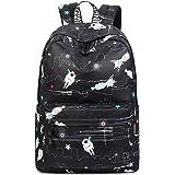 Joymoze Waterproof School Backpack for Girls Middle School Cute Bookbag Daypack for Women Black Robot 843