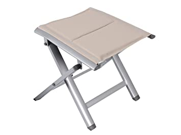 Trendy Solid Aluminium Stool Footstool Garden Furniture Textile Folding  Stool Camping Stool