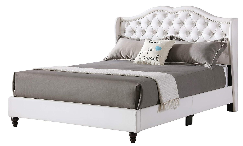 Amazon.com: Glory muebles 1926-fb-up de cama tapizada, Full ...