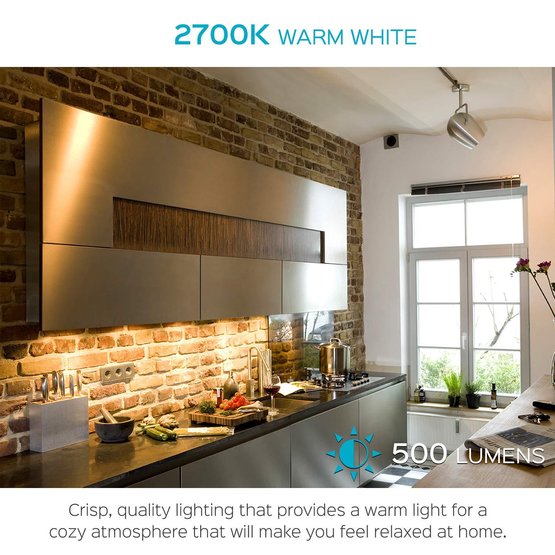 Energy Star /& Damp Rated and Track Lighting Landscape 4100K Cool White Dimmable 550 Lumens 7W LED Spotlight Bulb 40 Degree Luxrite MR16 LED Bulb GU5.3 12V Home 4 Pack 50W Equivalent