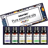 KBAYBO Essential Oil for Diffuser, Aromatherapy Oil Set, 6 Kinds Fragrance of Lavender, Tea Tree, Rosemary, Lemongrass, Orange,Peppermint