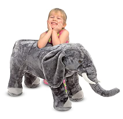 Amazon Com Melissa Doug Giant Elephant Lifelike Stuffed Animal