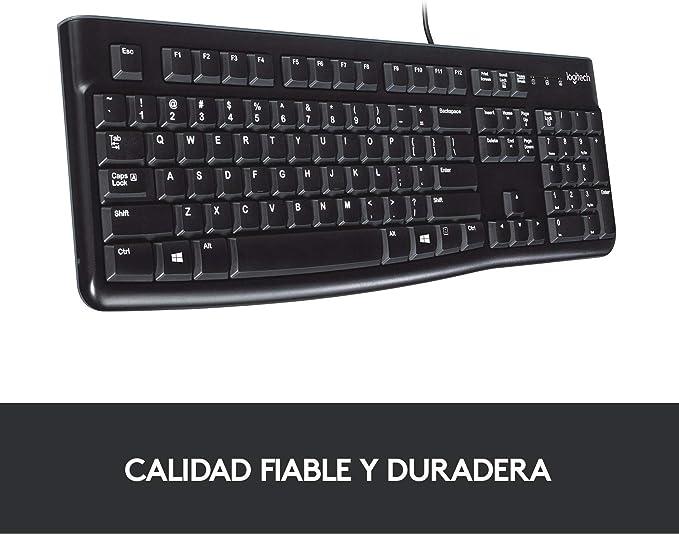 Logitech K120 Teclado con Cable para Windows, Tamaño ...