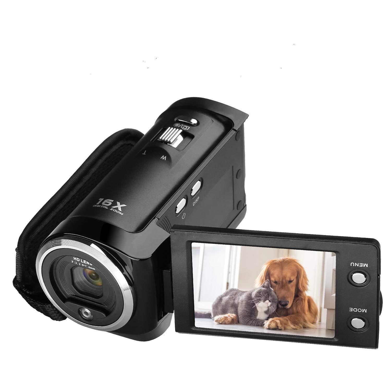 Video Camera Vlogging Camera Camcorder, GordVE 720P 16MP 2.7 inch LCD 270 Degrees Rotatable Screen 16X Digital Zoom Digital Camera Recorder