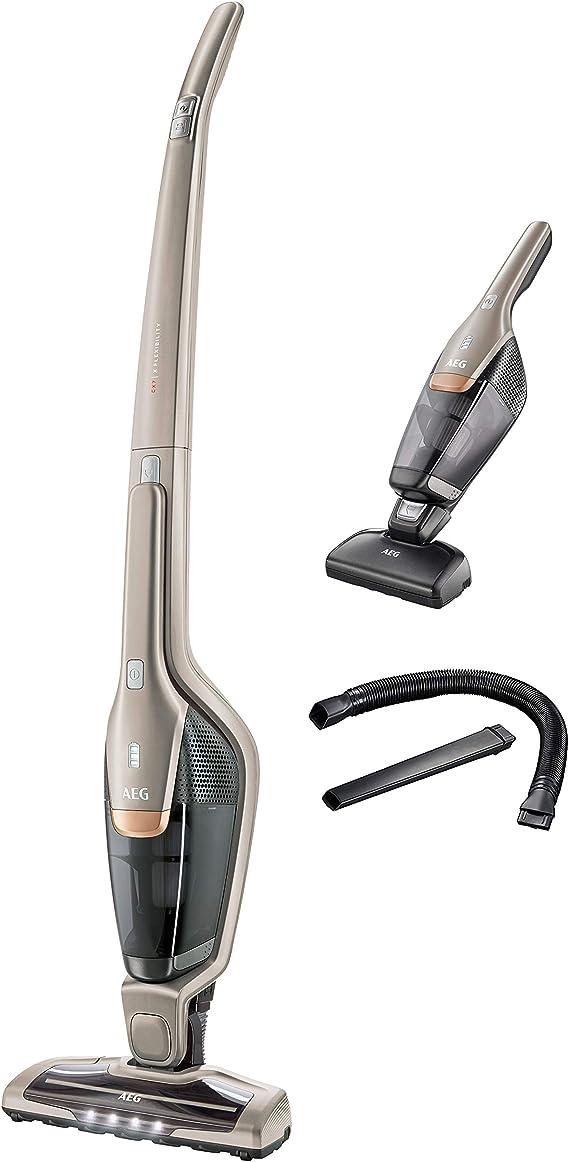 AEG Ergorapido CX7-2-S360- Aspiradora inalámbrica 2 en 1 con bolsa para animales (incluyendo el cepillo de succión eléctrico y accesorios, funcionamiento hasta 45 minutos) , color: Beige (Soft Sand): Amazon.es: Hogar