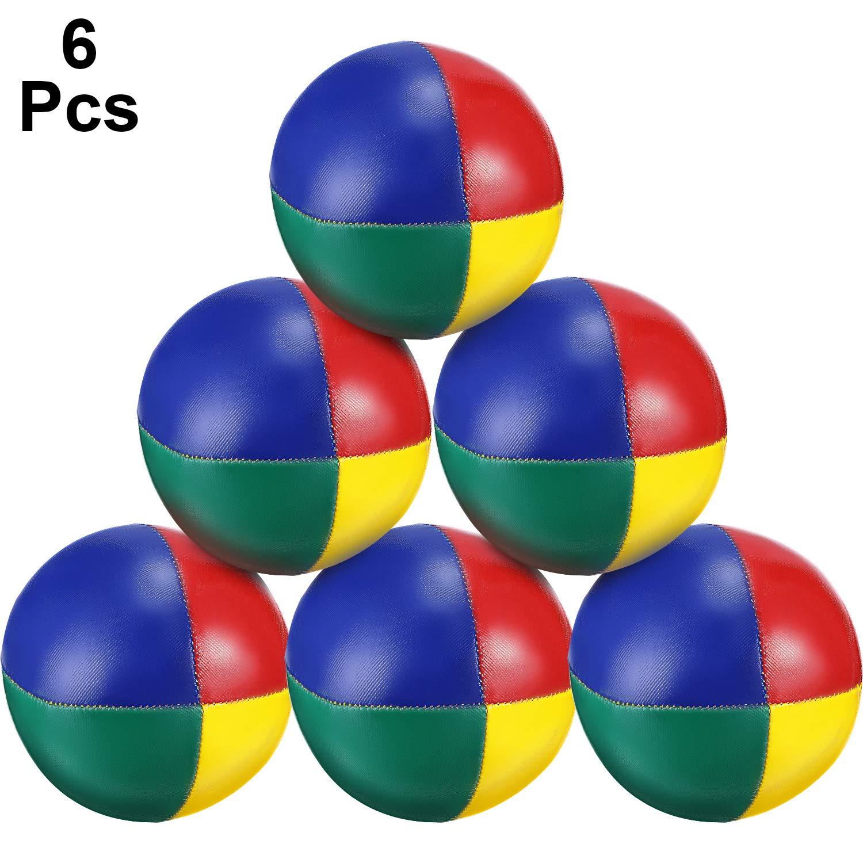 Tatuo 6 Pieces Juggling Balls Set, Quality Mini Juggling Balls, Durable Juggle Ball Kit, Soft Juggle Balls, Multicolored by Tatuo