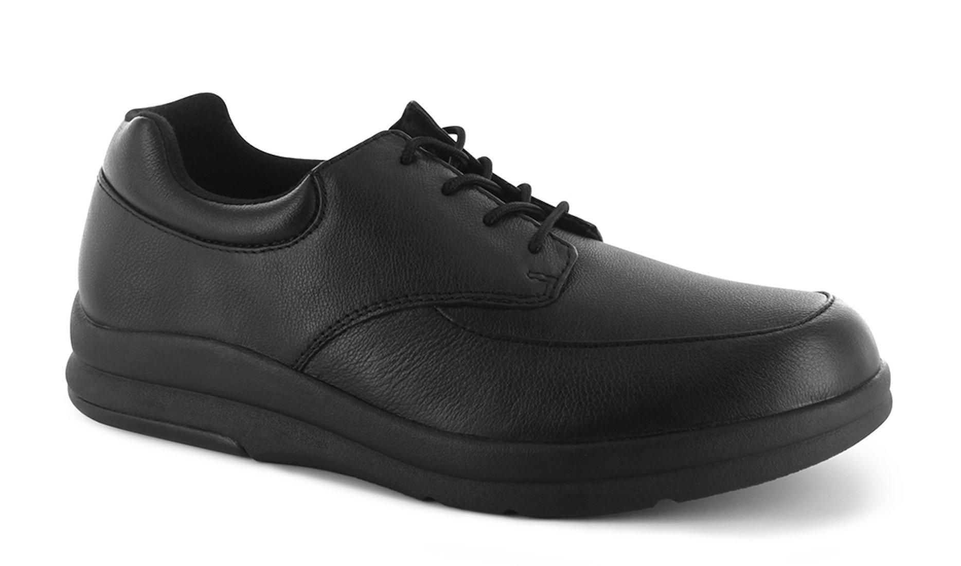 P W Minor Pace Walker Men's Therapeutic Casual Extra Depth Shoe: Black 15 XX-Wide (5E) Lace