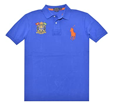 Polo Ralph Lauren Mens Slim Fit Nautical Crest Polo Shirt (X ...