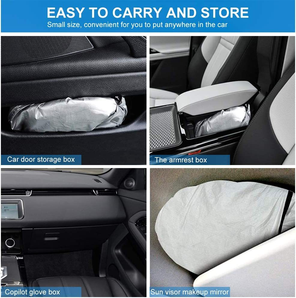 For CADILLAC Accessories Windshield Sunshade 62.9 X 33.4 Keep the Car Cool and Sun Visor Protection Cadillac 1994-2024 SUV 210T Car Sun Shade Fabric Block the Strong Sunlight and Ultraviolet Rays
