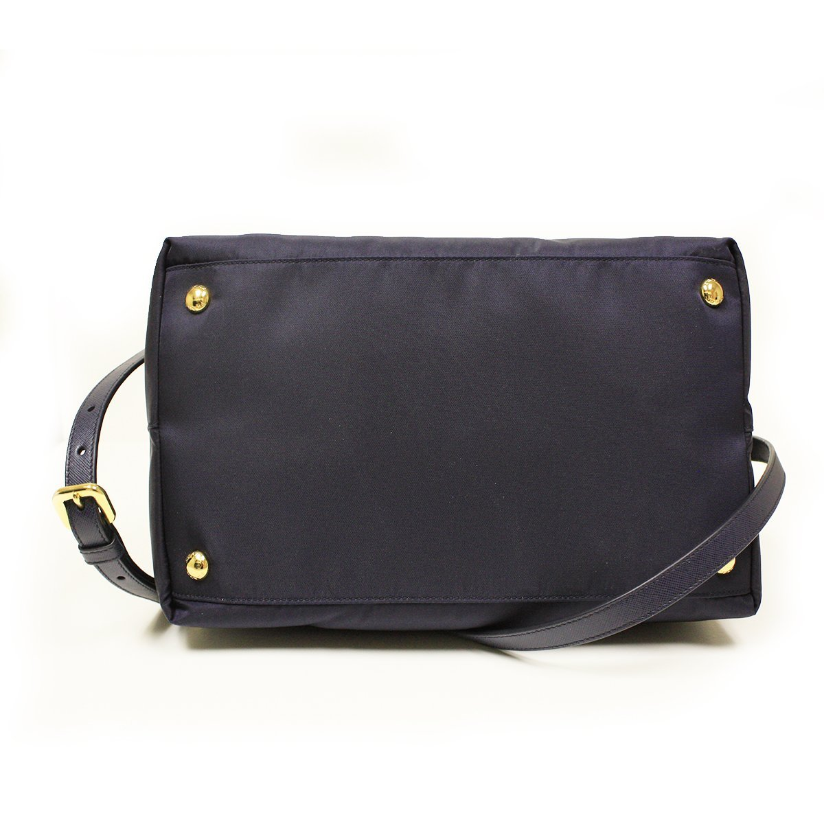 fd327a5622b291 Prada BN2106 Bleu Tessuto Saffian Navy Blue Nylon and Leather Shopping Tote  Bag: Handbags: Amazon.com