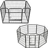 TecTake Recinto grande per cuccioli esterno recinto per cani gatti cuccioli roditori - modelli differenti - (rettangolare | no. 401718) | Dimensioni (LxPxA): circa 125 x 85 x 70 cm